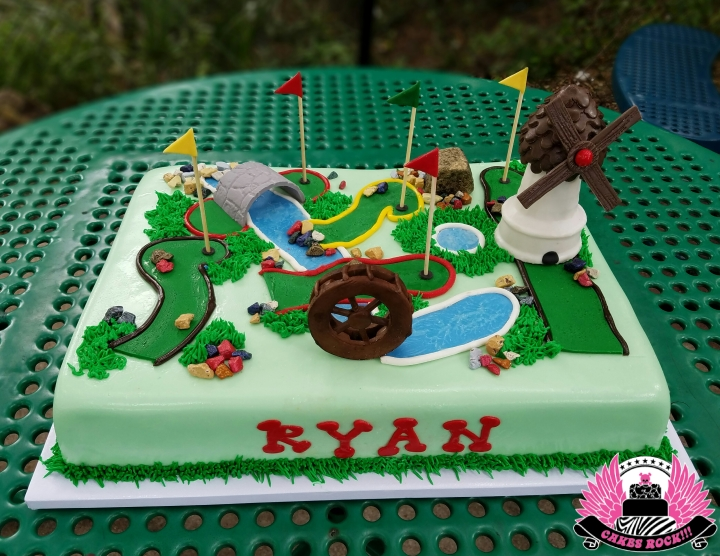 Ryans' mini golf cake